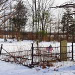 """Solitary Gravestone in a Rural NY Cemetery in Wint"" by FingerLakesPhotos"