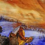 """Afghani Dishwashing at Sunset"" by DianaNadalFineArt"