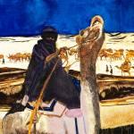 """Camel Caravan Ships of the Moroccan Desert"" by DianaNadalFineArt"