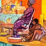 """Dakar Market Vendor"" by DianaNadalFineArt"
