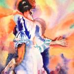 """Flamenco Dancer II"" by DianaNadalFineArt"