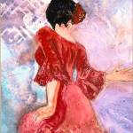 """Flamenco Dancer III"" by DianaNadalFineArt"