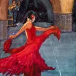 """Flamenco Dancer IV"" by DianaNadalFineArt"