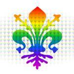"""Rainbow Fleur-de-lis"" by Almdrs"