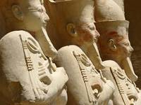 Statues at the 3rd Terrace, Temple of Hatshepsut,
