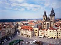 Old Town Square and Tyn Church, Prague, Czech Repu