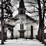 """Old Logan Church (Black and White)"" by FingerLakesPhotos"