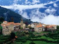 Village in Alta Roca Region, Corsica, France