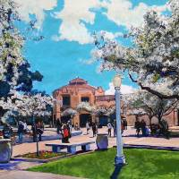 Ornamental Pear Trees Balboa Park San Diego Art Prints & Posters by RD Riccoboni
