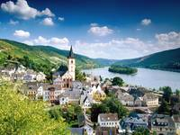 Lorch Village, Hesse, Rhine River, Germany