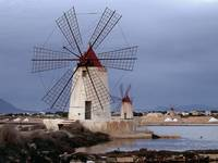 Windmills at Infersa Salt Pans, Marsala, Sicily, I