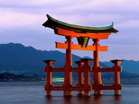 Grand Gate, Itsukushima Shrine, Miyajima, Japan
