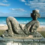"""Chac Mool, Cancún, Mexico"" by canvass22"