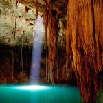 """Cenote Dzitnup, Mexico"" by canvass22"