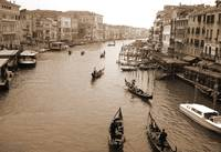 Gondolas Along the Grand Canal