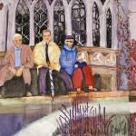 """Rest Stop Stourbridge Garden"" by DianaNadalFineArt"