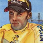 """""""Wearing the Yellow Jersey, Chris Horner"""" by DianaNadalFineArt"""