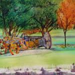 """Antique Farm Wagon Chehalem Mountain"" by DianaNadalFineArt"