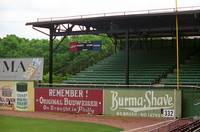 Baseball Field & Burma Shave Sign