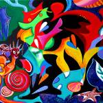 """""""Echoes of Taino and Vejigantes"""" by galina"""