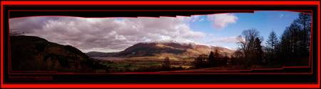 UK Lakes Skiddaw Hills Panaramic