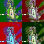 Indian Chief Pop Art 2