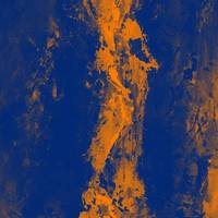 Abstract blue orange