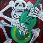 """Skeleton Guitarist"" by ArtPrints"