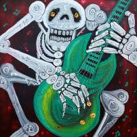 Skeleton Guitarist Art Prints & Posters by Laura Barbosa