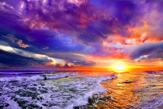 Sunset With Sea Wave Tap To See More Breathtaking Beach: 1000+ Images About My Peaceful Place On Pinterest