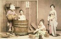 Geishas bathing