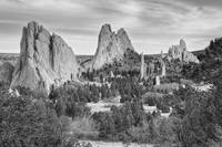 Gods Colorado Garden In Black and White
