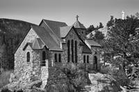 St Malo Chapel On the Rock Colorado BW