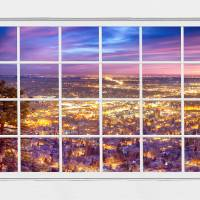 Downtown Boulder City Lights Sunrise  Window View Art Prints & Posters by James