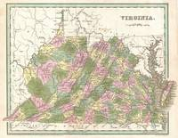 Vintage Map of Virginia (1838)