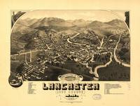Vintage Pictorial Map of Lancaster NH (1883)