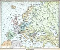 Vintage Map of Europe (1899)