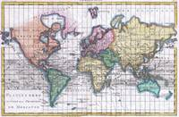 Vintage Map of The World (1780)