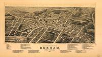 Vintage Pictorial Map of Durham NC (1891)