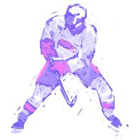 Hockey Defenseman white blue (c)