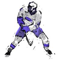 Hockey Defenseman blue white (c)