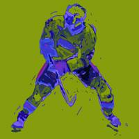 Hockey Defenseman green blue (c)