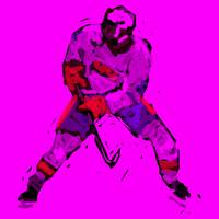 Hockey Defenseman purple red (c)