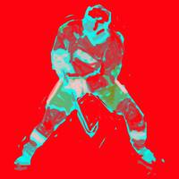 Hockey Defenseman red green gray (c)