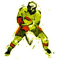 Hockey Defenseman rust yellow brown gold (c)