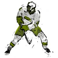 Hockey Defenseman green white charcoal (c)