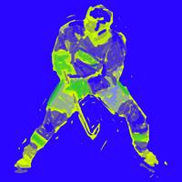 Hockey Defenseman blue yellow (c)