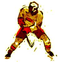 Hockey Defenseman red orange maroon (c)