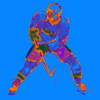 Hockey Defenseman blue orange (c)