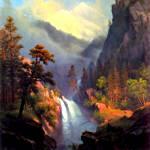 """Cascading falls at sunset"" by bandtdigitaldesigns"